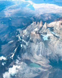 Torres del Paine desde el Avión